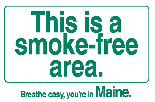 Smoke-free area Cling