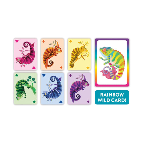 Crazy Chameleon! Playing Cards to Go Playing Cards Mudpuppy