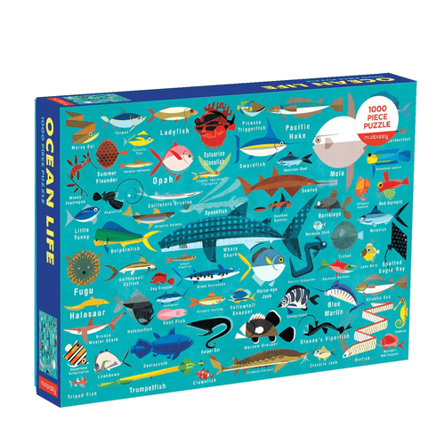 Ocean Life 1000 Piece Puzzle Family Puzzles Mudpuppy