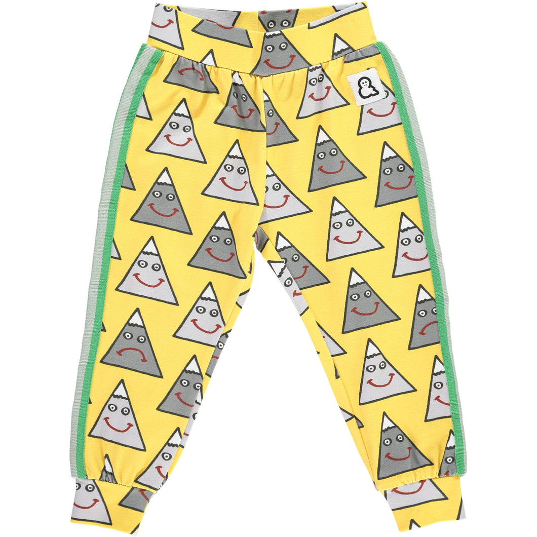 Boys&Girls Happy Mountain Track Pants in Organic Cotton