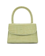 Mini - Sage Green Croco Embossed Leather