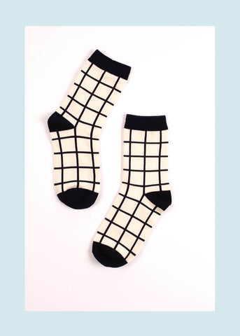 Grid Lock Socks