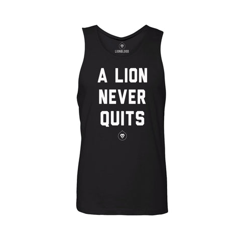 LION NEVER QUITS TANK