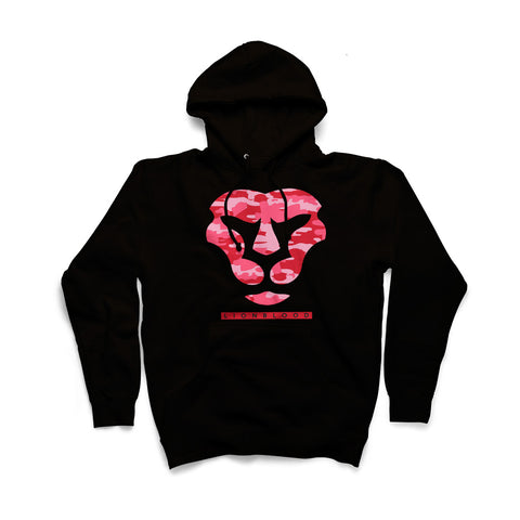 Camouflage Lionblood Lion Rasberry face hoodie king of the jungle