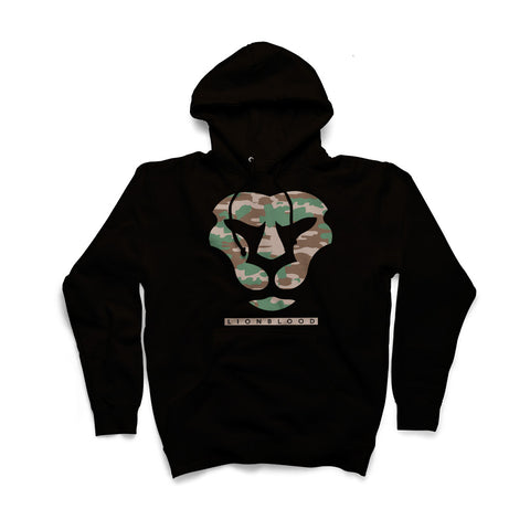 Camouflage Lionblood Lion Military face hoodie king of the jungle