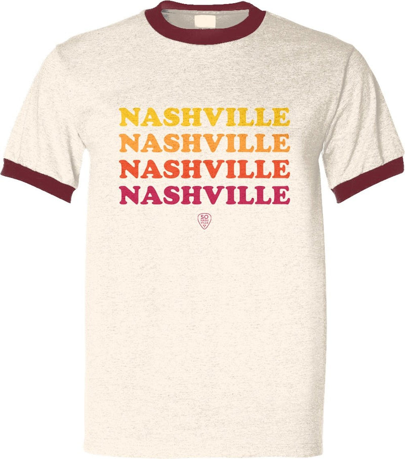 Retro Nashville Red/Orange/Yellow