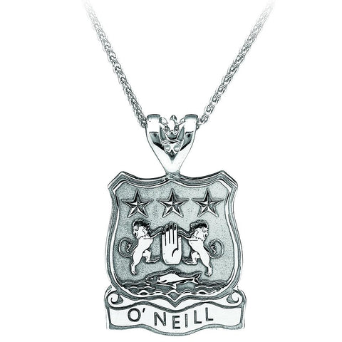 Sterling Silver Personalized Shield with Name Pendant Necklace
