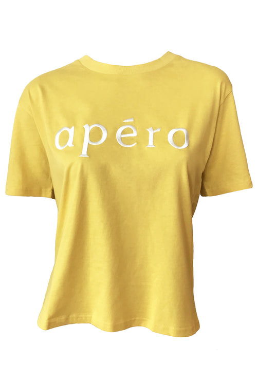 Apero Embroidered Tee - Yellow