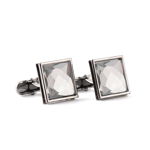 Square Crystal Classic Cufflinks