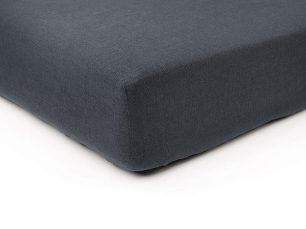 Charcoal linen fitted sheet by Lovely Home Idea