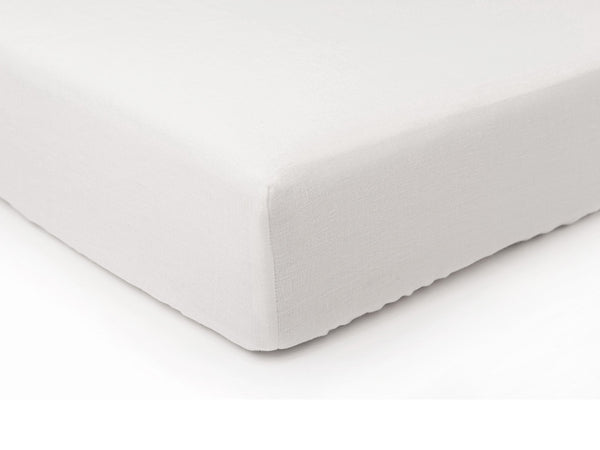 White linen fitted sheet by Lovely Home Idea