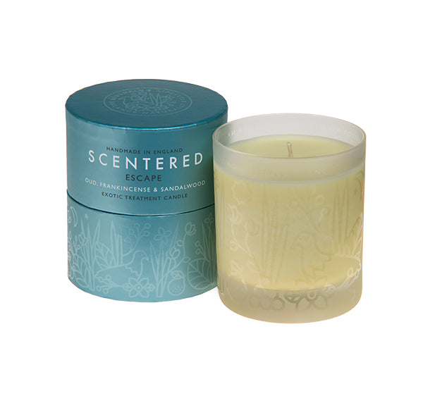 Scentered Aromatherapy Escape Home Candle - Frankincense Sandalwood Scented Therapy Candle