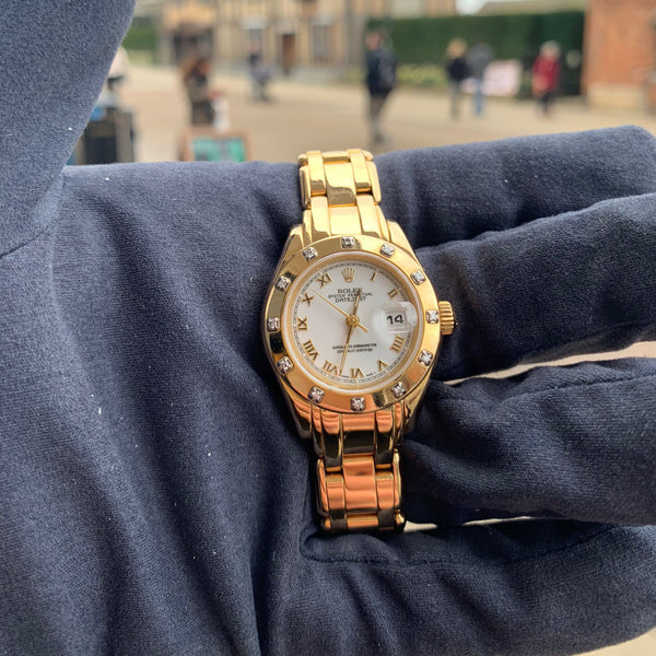 Rolex 18ct Gold Pearlmaster 1995