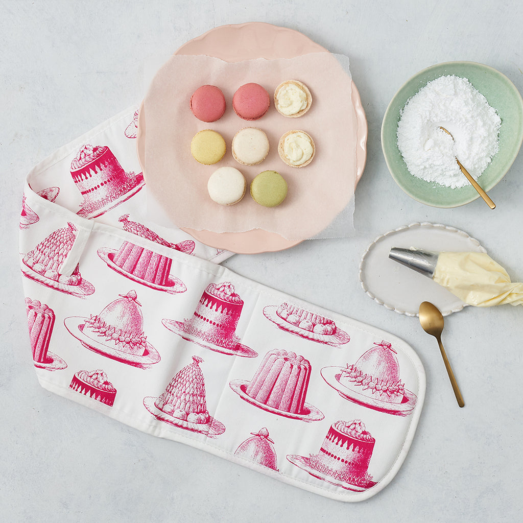 Pink Jelly & Cake Oven Glove