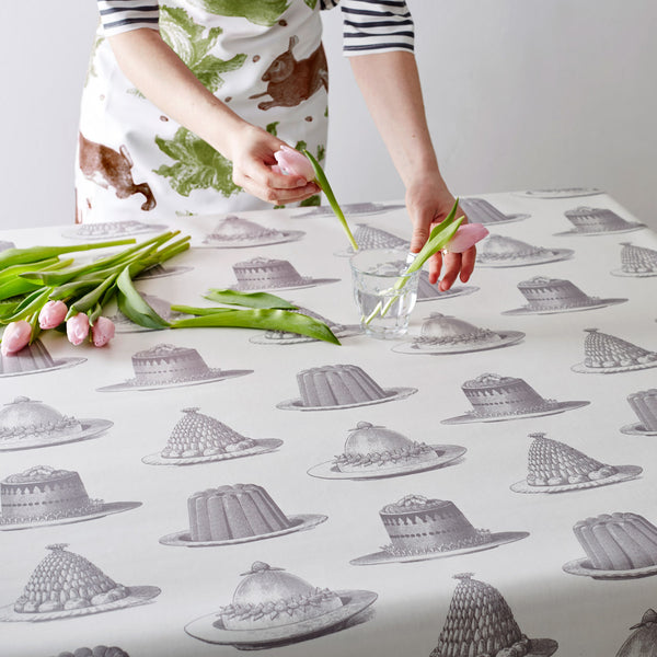 Grey Jelly & Cake Oilcloth