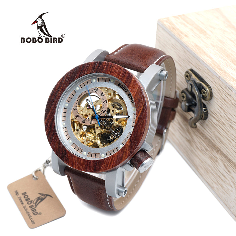 Luxury Classic Style Automatic Wood Watch - SandleWood