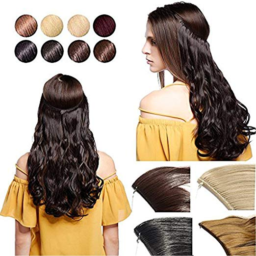 Halo Hair Extensions Product Photo Main | Viral Makeup and Hair And Makeup