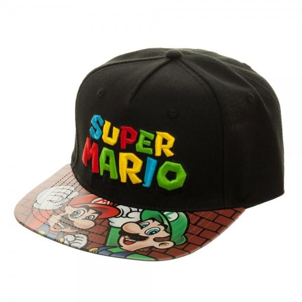 Super Mario Bros. Printed Vinyl Bill Flatbill