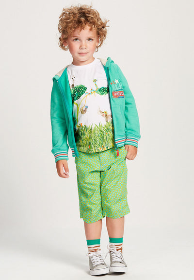 Oilily Green Heroic Cardigan-Outerwear-Oilily-kids atelier