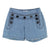 Chloe Blue Button Shorts