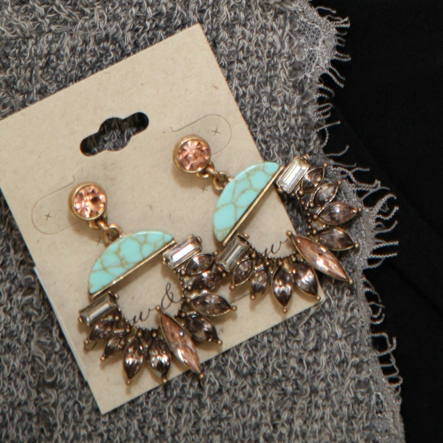 Wedge and Marquise Earrings