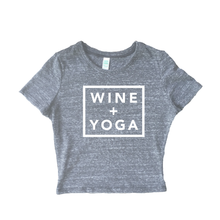 Wine + Yoga Women's Eco Tri-Blend Crop