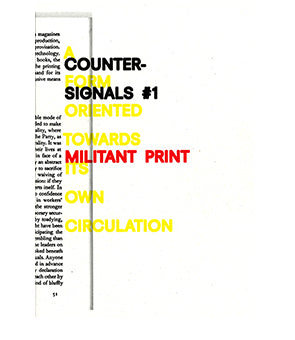 Counter Signals #1