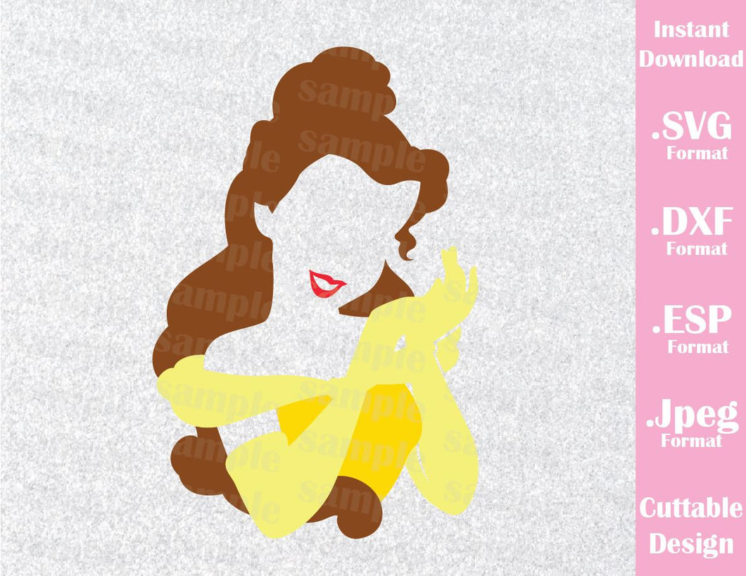 Princess Belle from Beauty and the Beast Cutting File in SVG, ESP, DXF and JPEG Format