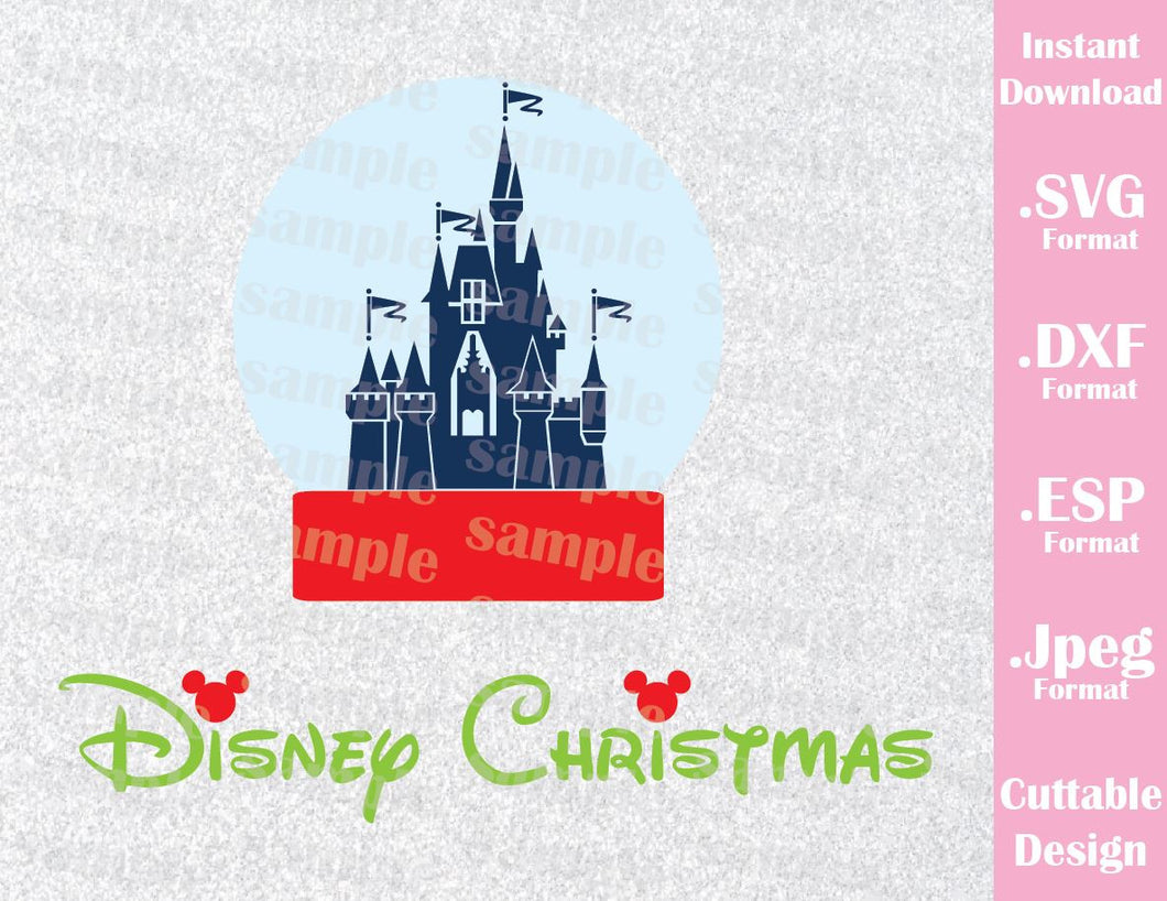 Disney Castle Christmas Ornament Disney Vacation Inspired Cutting File in SVG, ESP, DXF and JPEG Format