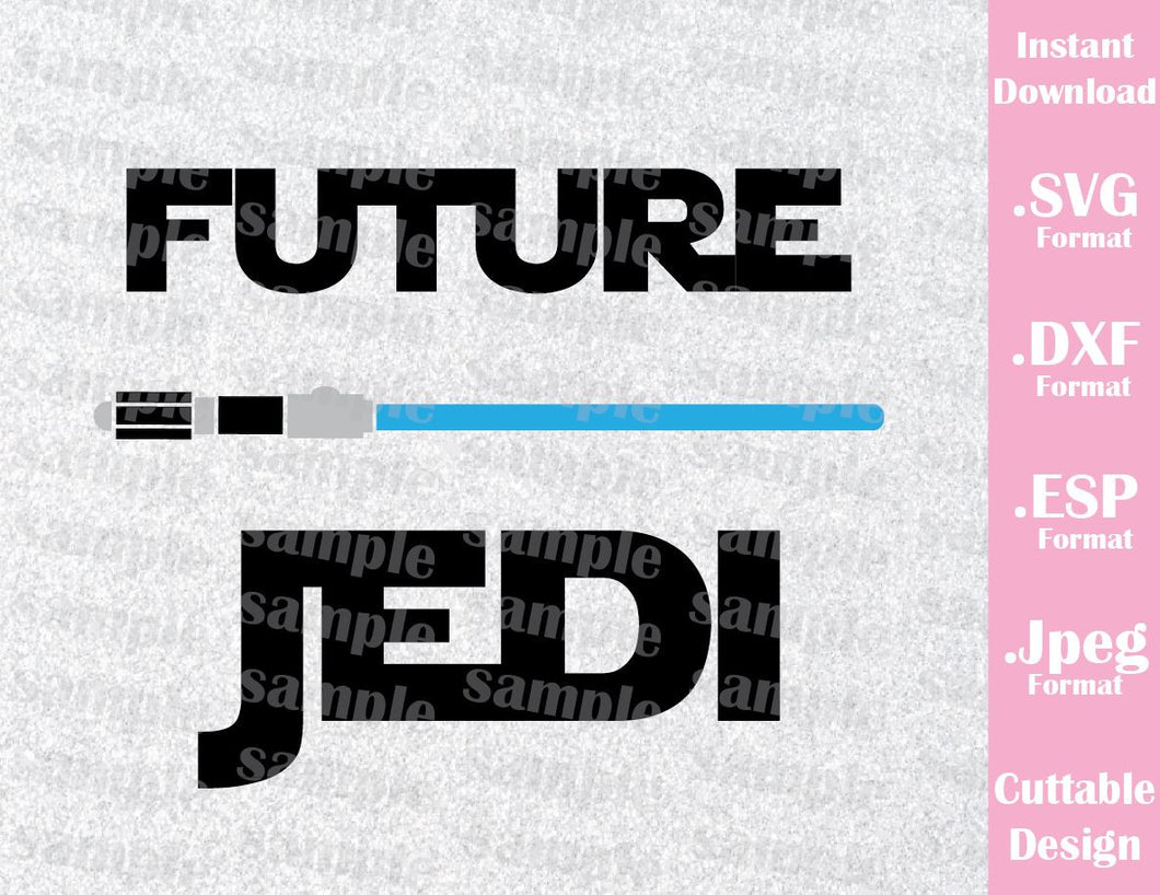 Future Jedi Star Wars Inspired Cutting File in SVG, ESP, DXF and JPEG Format