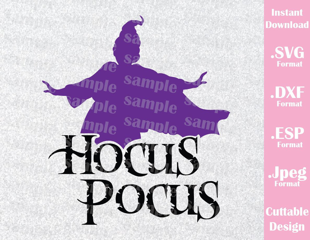 Hocus Pocus Sanderson Witches Mary Disney Halloween Inspired Cutting File in SVG, ESP, DXF and JPEG Format