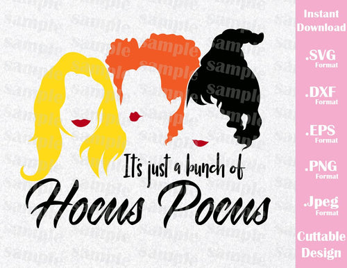 Hocus Pocus Sanderson Witches Mary, Winnie, Sarah Disney Halloween Inspired Cutting File in SVG, ESP, DXF, PNG and JPEG Format