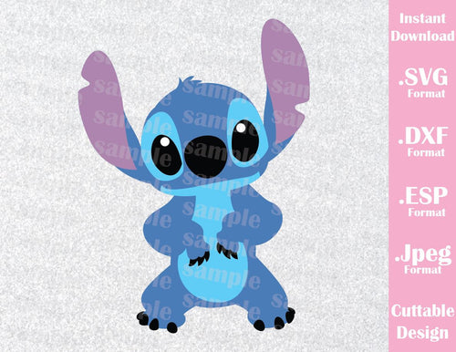 Disney Inspired Stitch Ohana from Lilo and Stitch Cutting File in SVG, ESP, DXF and JPEG Format