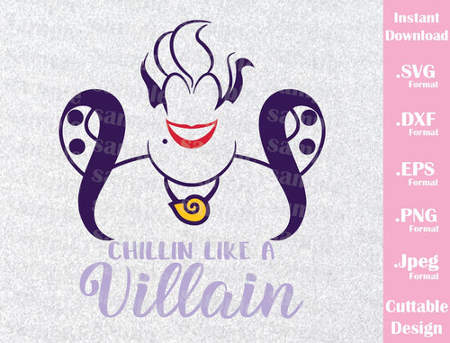 Ursula Villains, Poor Unfortunate Souls, Quote, Disney Inspired from Little Mermaid Cutting File in SVG, ESP, DXF, PNG and JPEG Format