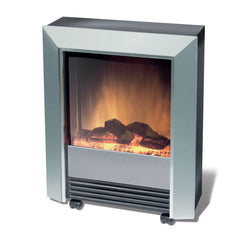 Dimplex Lee Silver 2kW Portable Electric Fire with Optiflame log effect