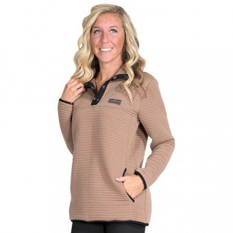 Simply Southern Ribbed Pullover in Mocha