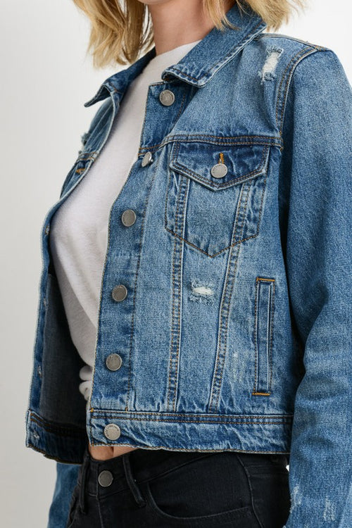 Delaney Distressed Jean Jacket