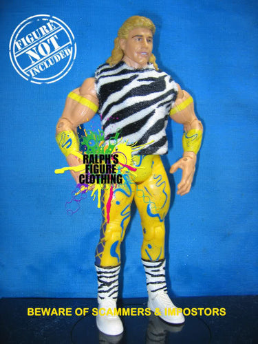 Rockers Shawn Michaels and Marty Jannetty Zebra-Stripe Shirt