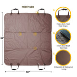 Dog Car Seat Cover Waterproof Universal Size - Brown