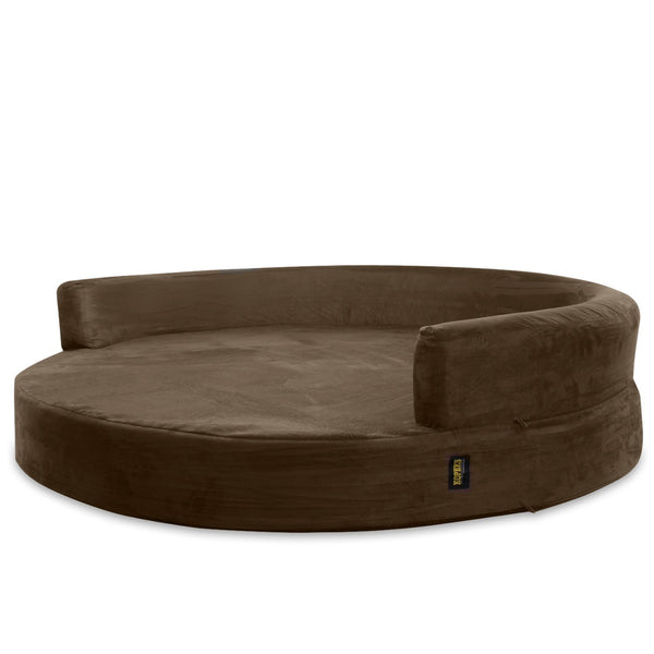 KOPEKS Round Large Dog Sofa Bed Replacement Cover ONLY- L - Brown