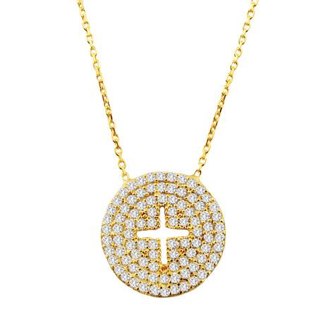Large Cutout  Cross Necklace - CZP50