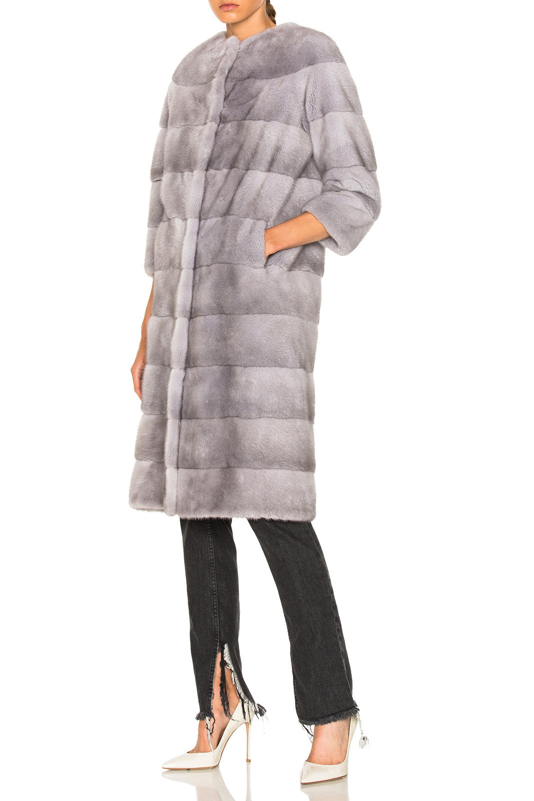 Sarah Long (100cm) Mink Fur Coat