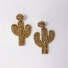 Cactus Beaded Earring