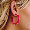 Fuschia Fun Hoops