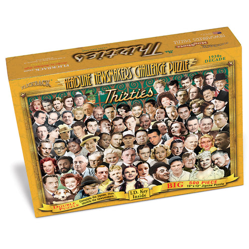 1930s Decade Flickback Newsmakers Puzzle