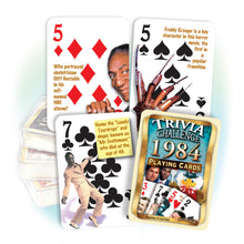 1984 Trivia Challenge Playing Cards: 35th Birthday or Anniversary Gift
