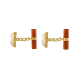 Mother of Peal and Carnelian Cufflinks