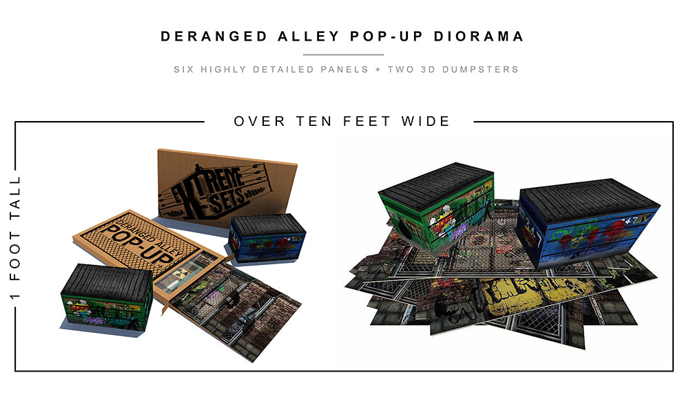 Deranged Alley Pop-Up Diorama