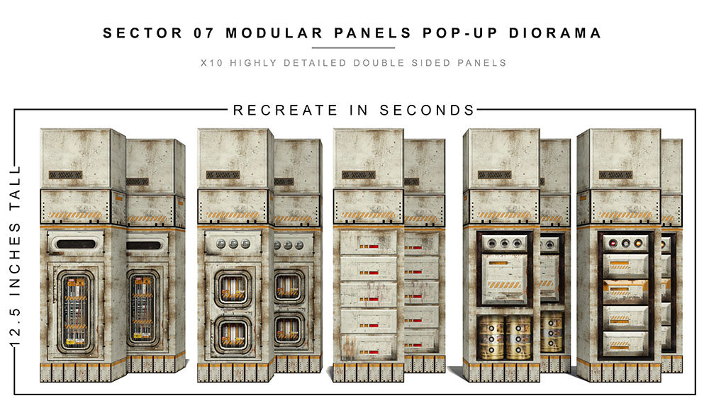 Sector 07 Modular Panels Pop-Up Diorama