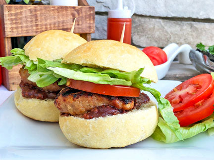 Bacon and Tomato Burgers